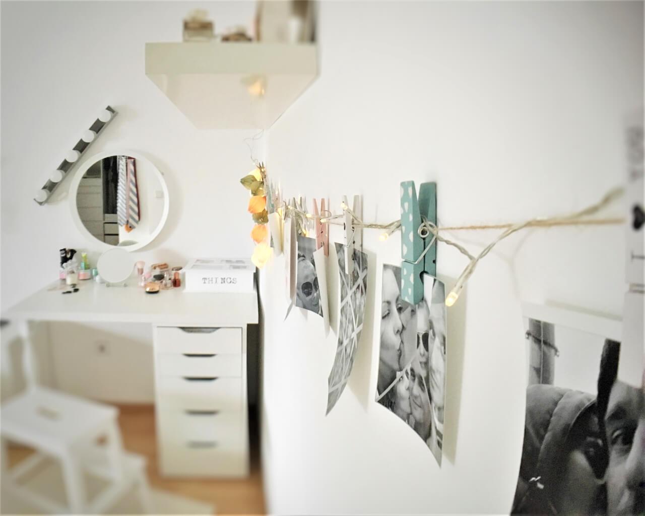 die foto lichterkette f r ein gem tliches ambiente. Black Bedroom Furniture Sets. Home Design Ideas
