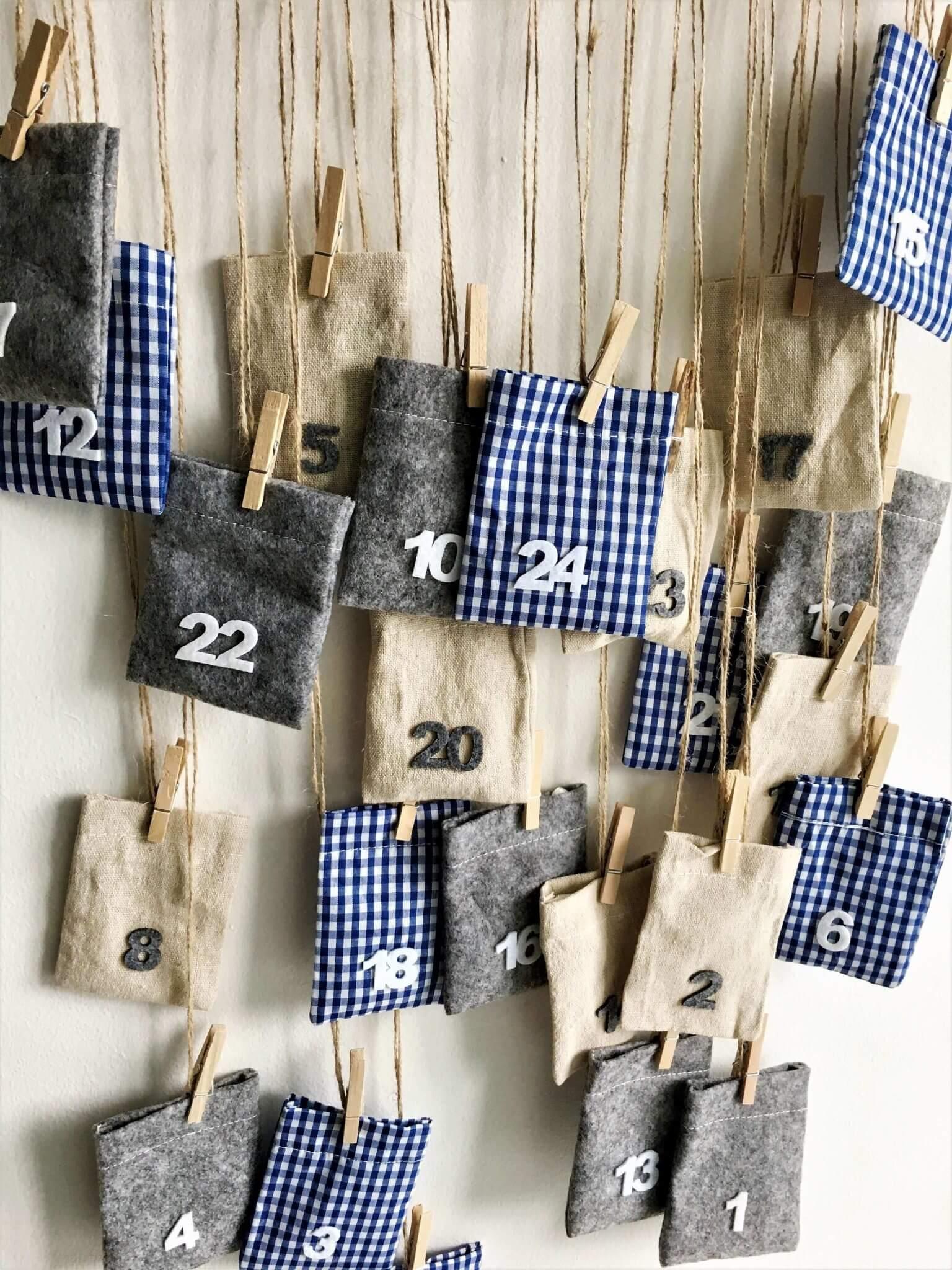 IMG 2711 - Jednoduché a originálne! Zaveste si adventný kalendár na vešiak.