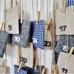 Einfach und originell! Adventkalender aus einem Kleiderbügel