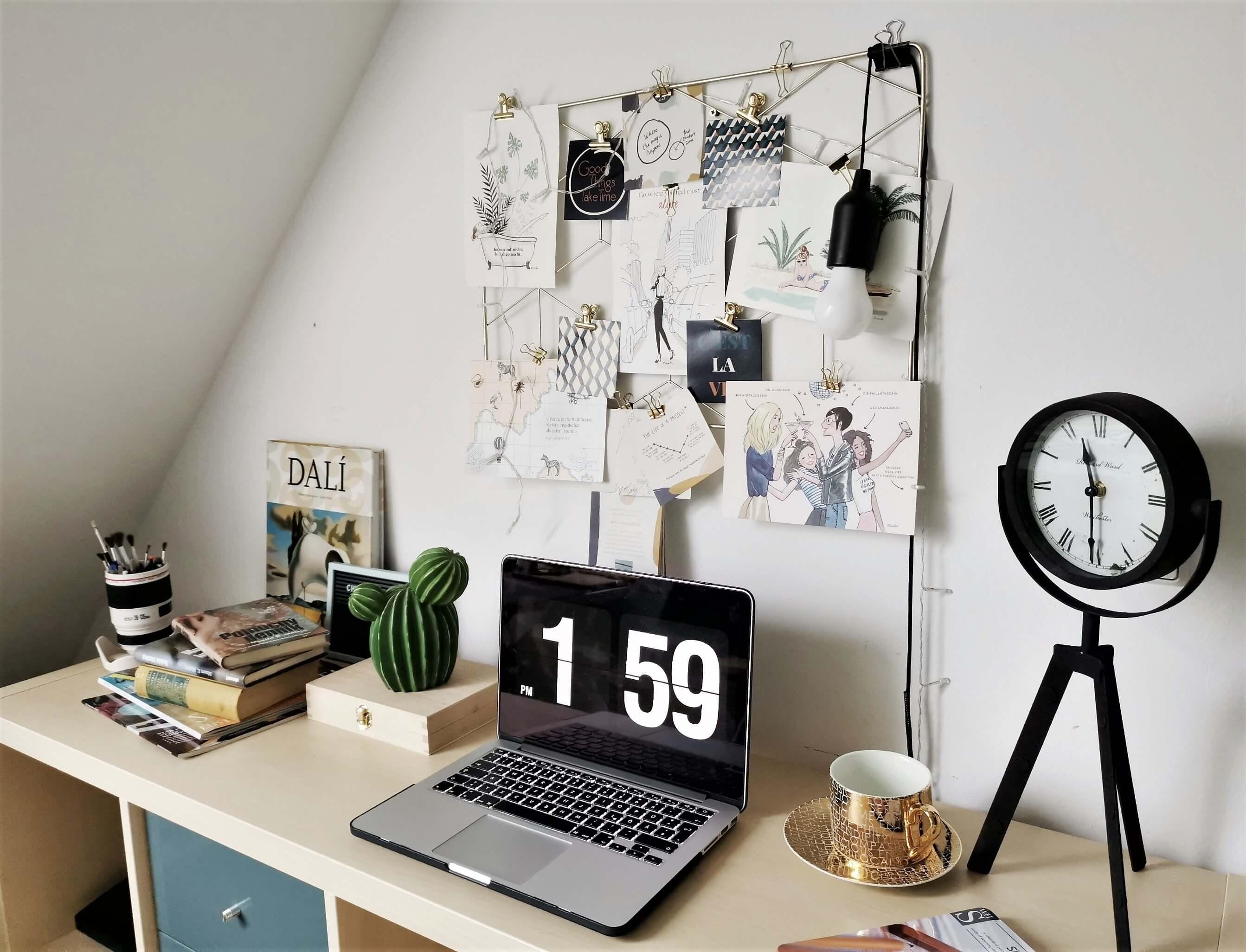 1 - Motivationswand als neuer Trend der perfekten Arbeitsecke