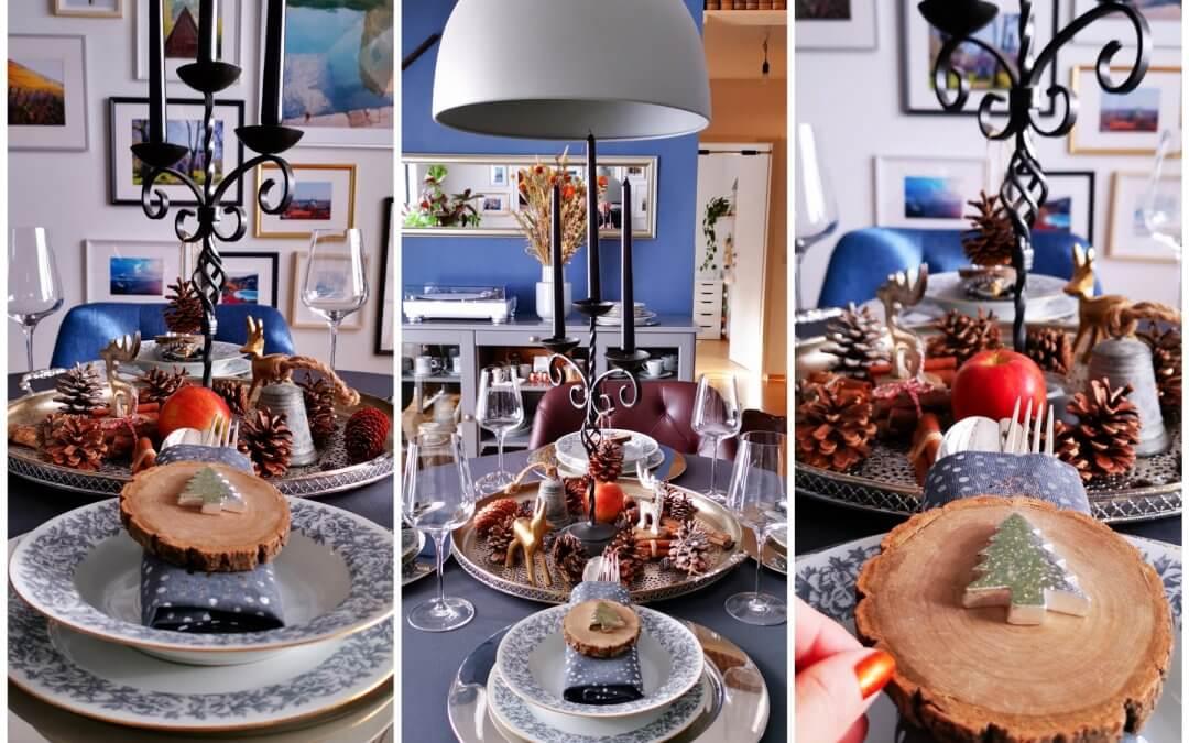 Inšpirácia na krásne vyzdobený vianočný stôl