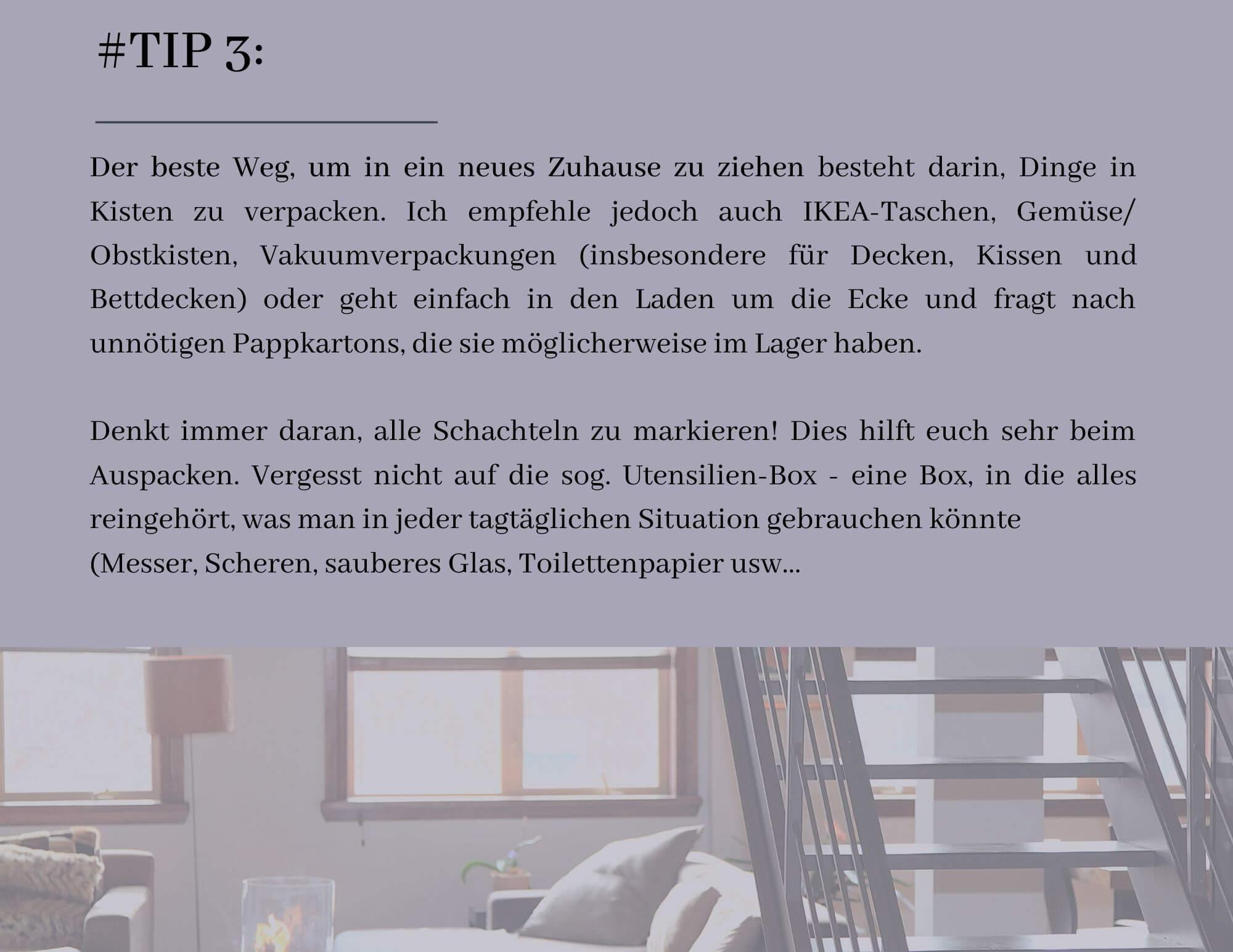 Minimalist Real Estate Trifold Brochure 5 - Wie man um- und einziehen soll ohne verrückt zu werden II.