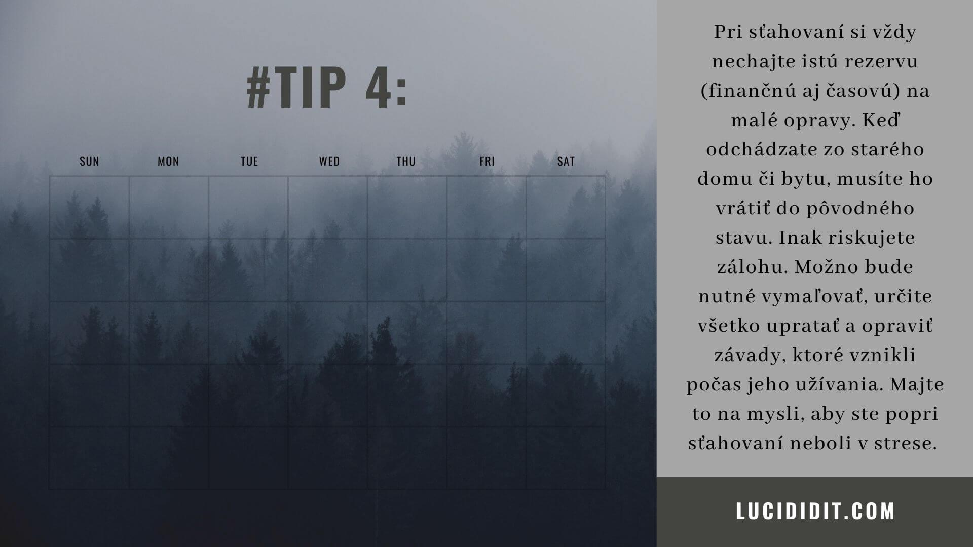 tip5 - Ako sa sťahovat, zariadiť a nezošalieť II.