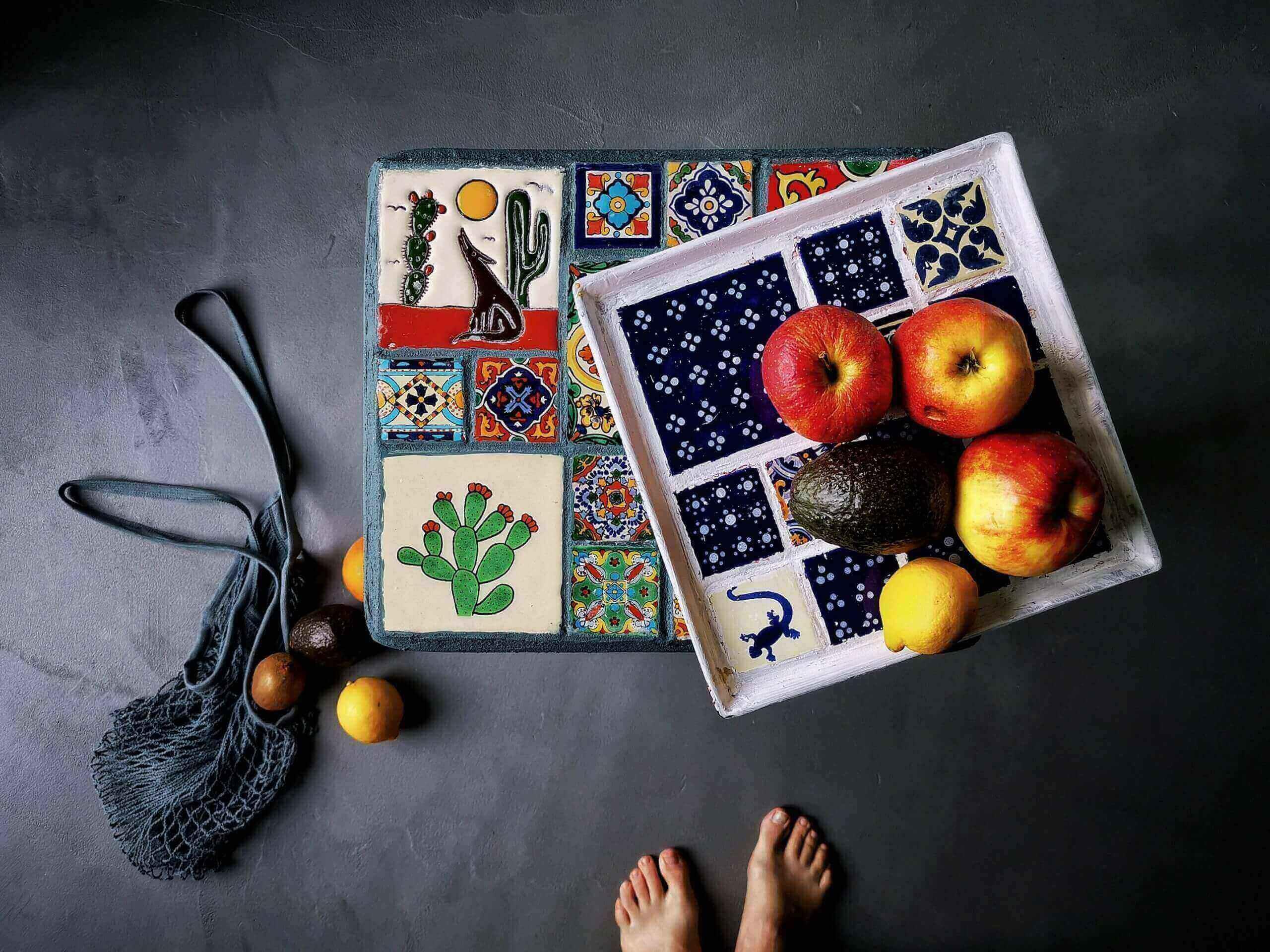 IMG 20200216 101918 01 scaled - Easy DIY: Originelles Tablett aus alten Fliesen