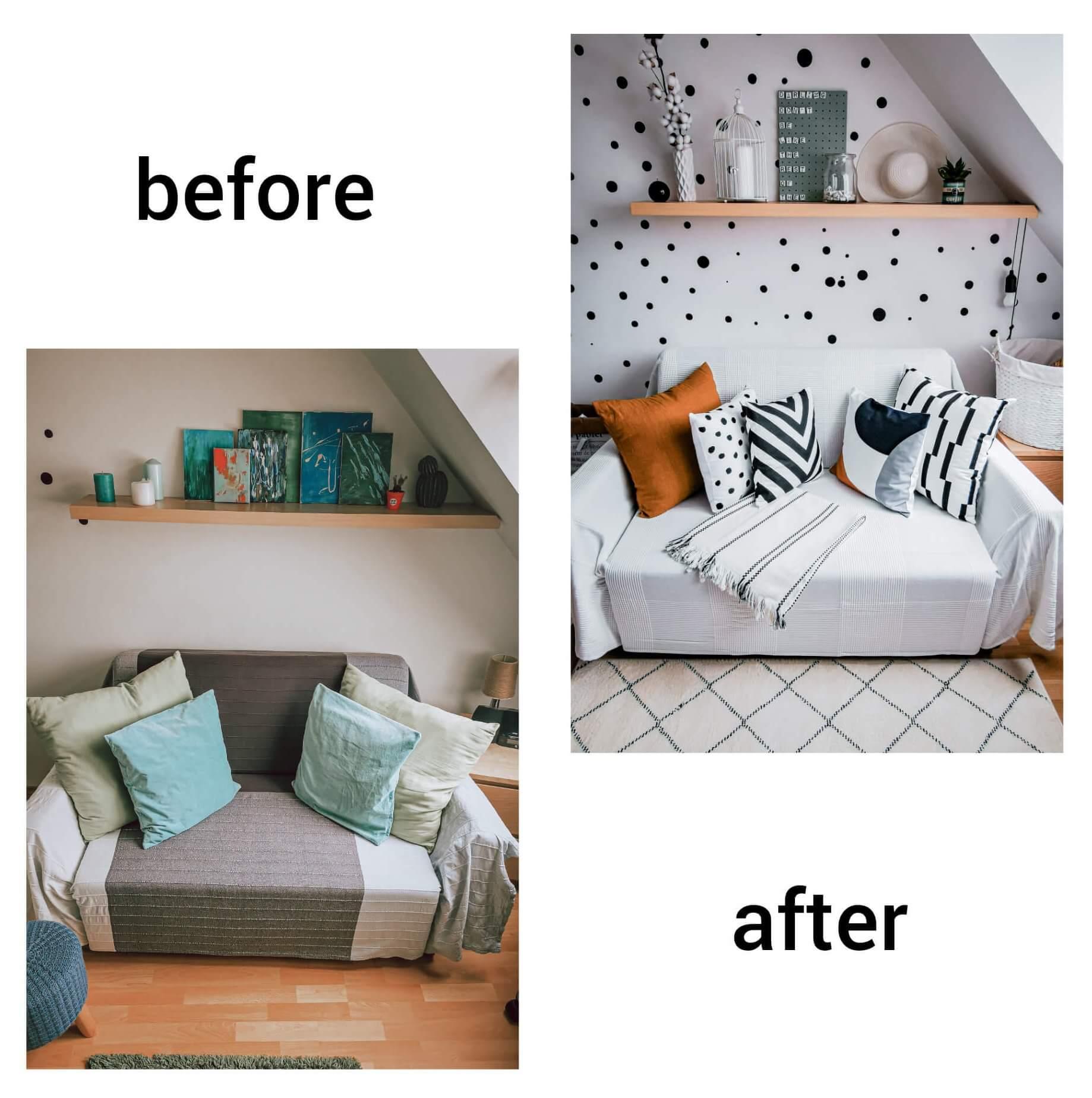 InShot 20200529 233519945 e1591186321154 - PRED a PO: Premena izby bez výmeny nábytku