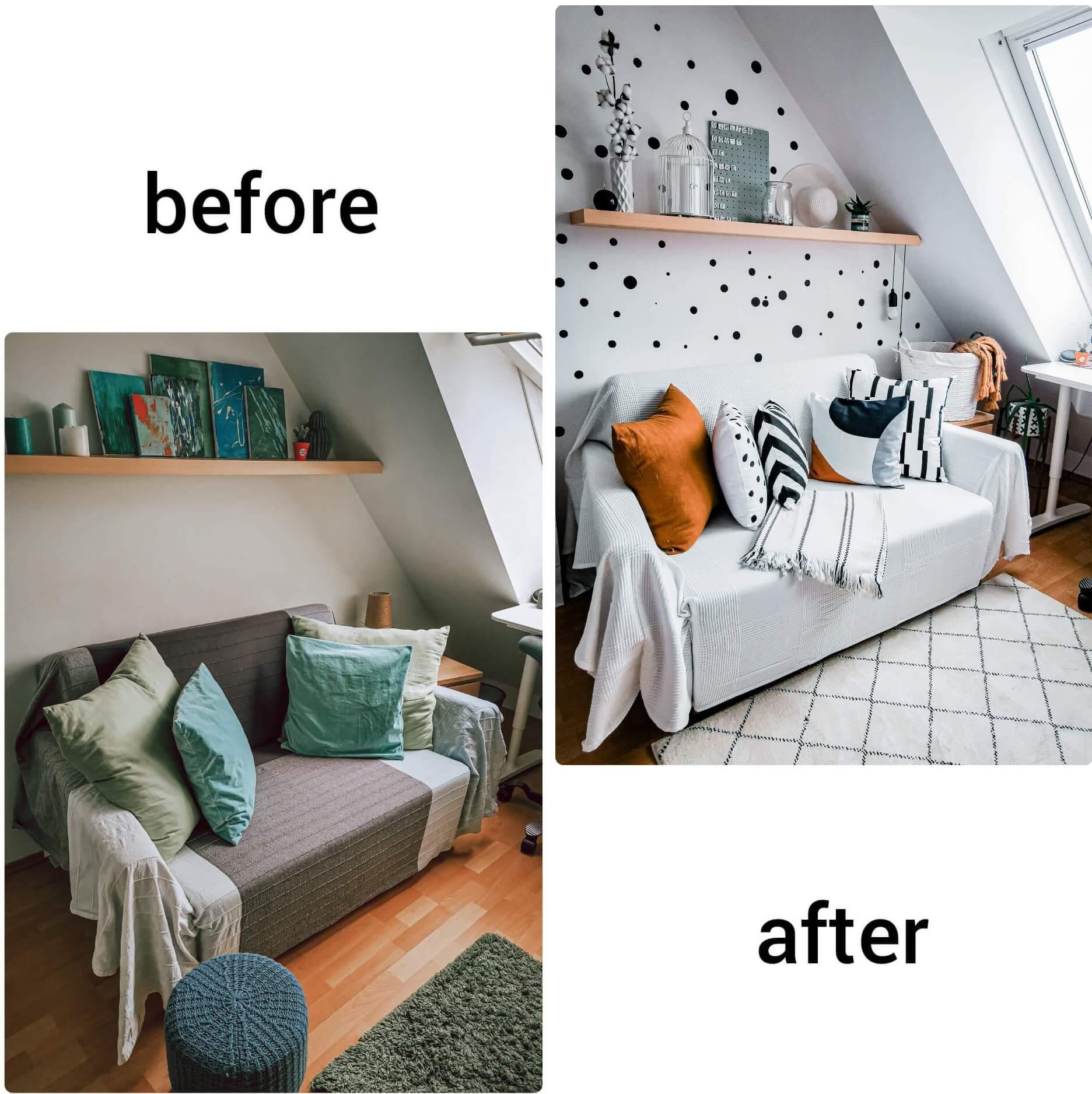 InShot 20200529 234130658 e1591186273545 - PRED a PO: Premena izby bez výmeny nábytku