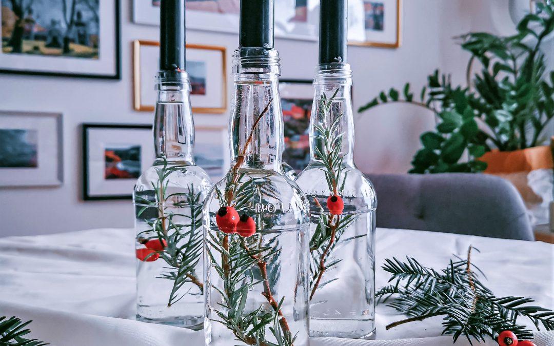Elleganter Adventkerzenständer aus alten Flaschen (Vol.2)