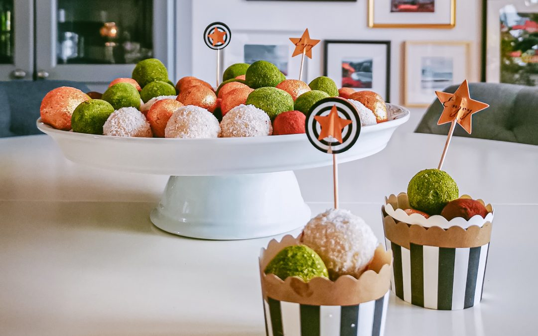 RAW vegan energy balls: sladký dezert v 4 príchutiach