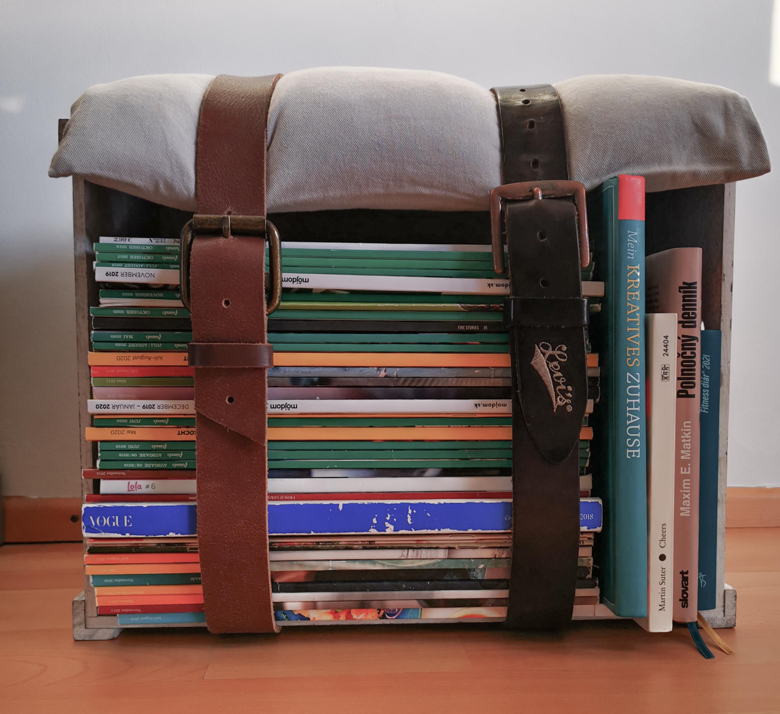 IMG 20210120 154200 1 - Sitzhocker aus alten Zeitschriften? Warum nicht?